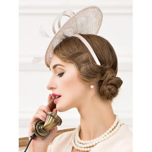 Fascinator Bowknot Feather Wedding Tea Party Cocktails Hat -
