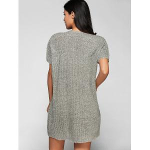 V Neck Loose Fitting Sweater Dress -