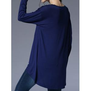 Scoop Neck High-Low T-Shirt with Pocket -