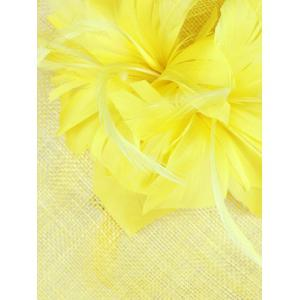 Exuberant Flower Feather Wedding Tea Party Cocktails Hat -