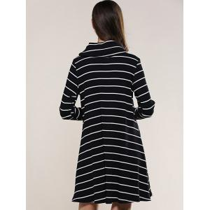 Striped Long Sleeve Knitted Dress -