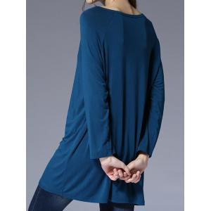 Scoop Neck Loose-Fitting T-Shirt -