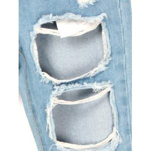 Broken Hole Pocket Design Slimming Jeans -