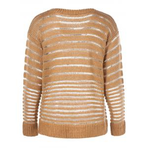 Long Sleeve Striped Pullover Knitwear -