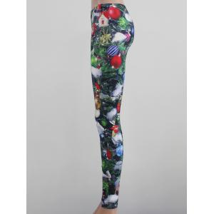 Tight Fit Printed Leggings - Multicolore XL