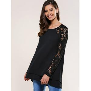 Lace Splicing Blouse -