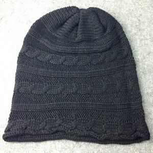 Traverse Hemp Flowers Knitted Slouchy Beanie -