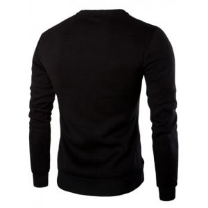 Sweat-shirt à Empiècement en Cuir PU Design Zippé -