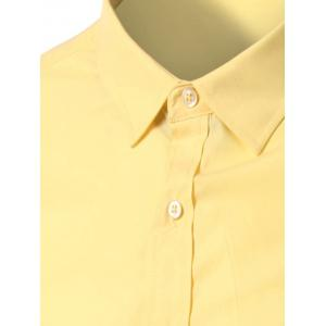 Candy Color Turn-down Collar Long Sleeves Shirt -