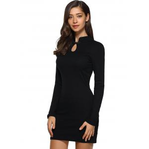 Cutwork Long Sleeves Bodycon Dress -