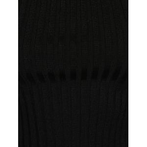 Concise Cut Out Close-Fitting Knitwear - BLACK ONE SIZE