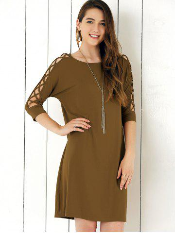 Chic Criss Cross Sleeve Shift Dress
