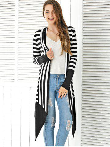 Shops Striped Asymmetrical Cardigan