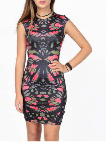 Chic Abstract Printed Bodycon Dress