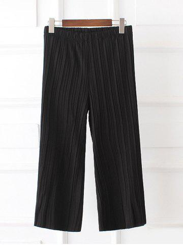 Outfit Plus Size Pleated Palazzo Capri Pants