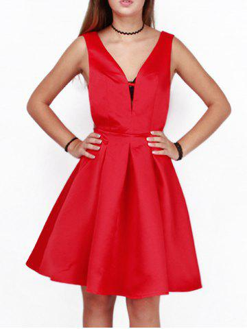 Trendy Cut Out A Line Cocktail Dress