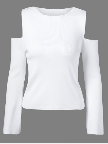 Cheap Cold Shoulder Pullover Sweater