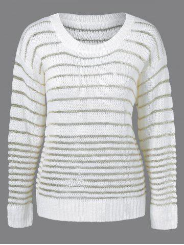 Store Long Sleeve Striped Pullover Knitwear