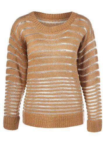 Buy Long Sleeve Striped Pullover Knitwear