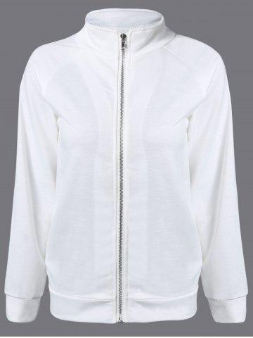 Outfits Back Heart Bomber Jacket WHITE 2XL