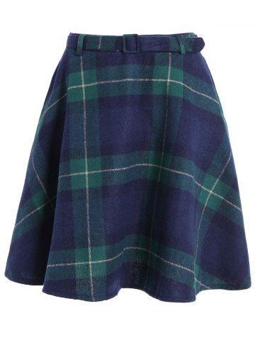 Store Plaid Winter Mini Skater Skirt