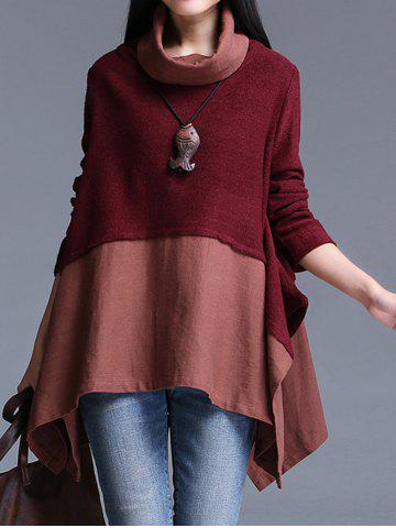 Affordable Asymmetrical Patchwork Sweater