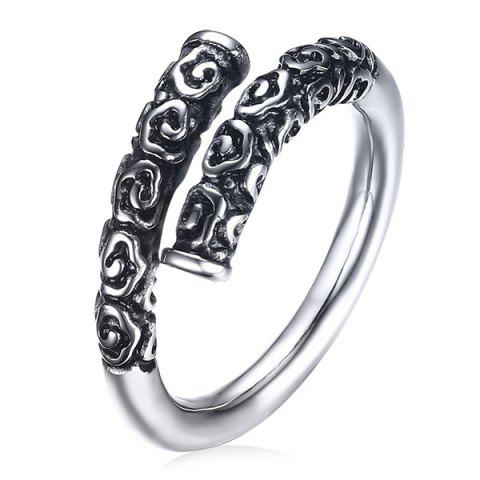 Latest Stainless Steel Engraved Cuff Ring