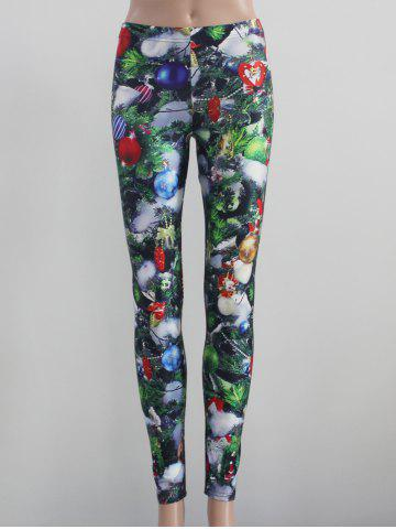 Chic Tight Fit Printed Leggings COLORMIX XL