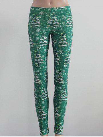 Outfits Tree and Snowflake Print Leggings