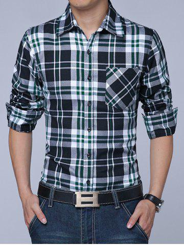 Sale Long Sleeves Button Up Plaid Shirt