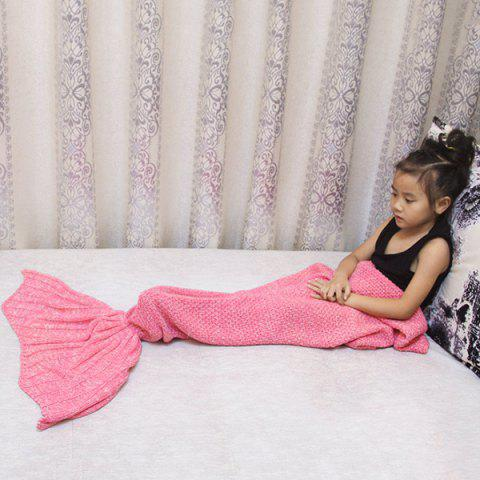 Magic Sofa Decor Knitted Mermaid Blanket For Kids - Pink - 137*70cn-m