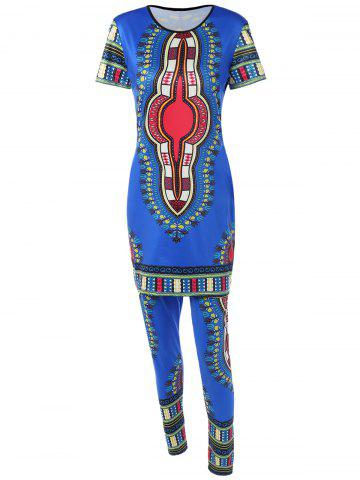 Shop Long Printed T-Shirt and Ethnic Style Pants