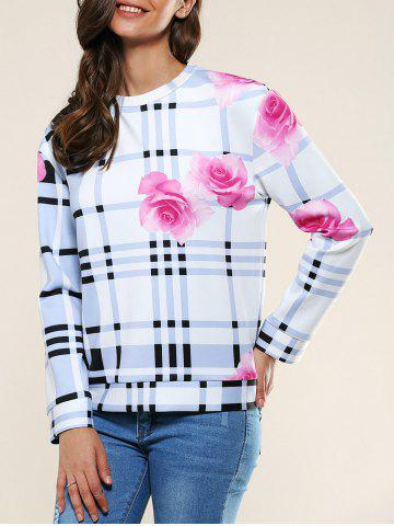 Chic Flower Plaid Pattern 3D Sweatshirt