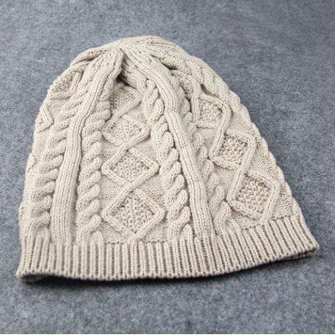 Outfit Hemp Flowers Slouchy Acrylic Knit Beanie Hat - OFF-WHITE  Mobile