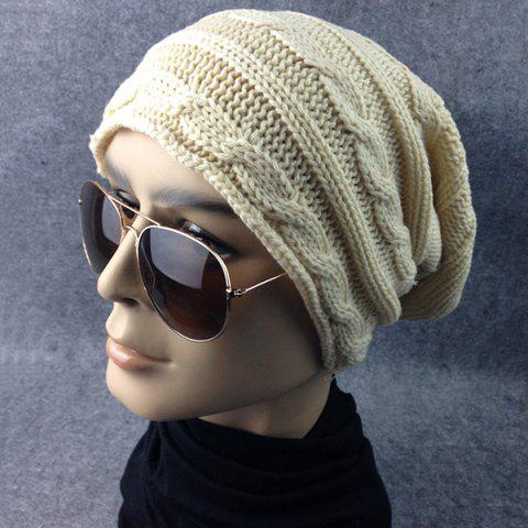 Buy Traverse Hemp Flowers Knitted Slouchy Beanie - OFF-WHITE  Mobile