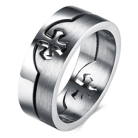 Store Detachable Cross Titanium Steel Ring - SILVER  Mobile