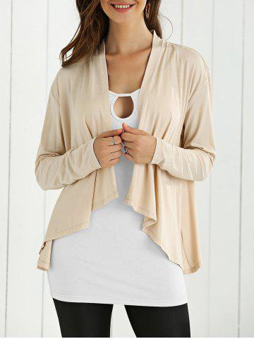 Fashion Open Front High Low Cardigan