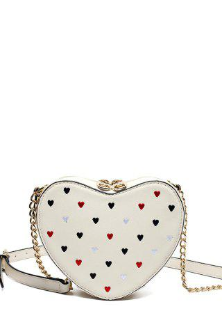 Heart Shaped Crossbody Bag - Off-white