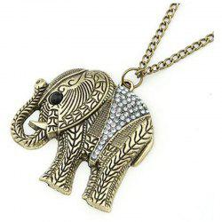 Rhinestone Embossed Elephant Sweater Chain