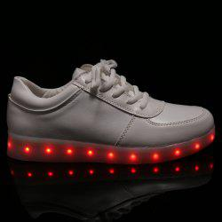 Fashionable Tie Up and Lights Up Led Luminous Design Athletic Shoes For Women