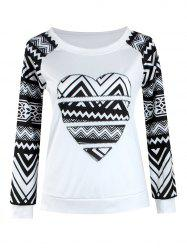 Tribal Print Raglan Sleeve T-Shirt
