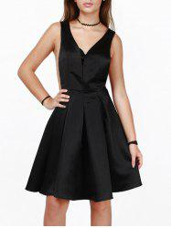 Cut Out A Line Zip Party Satin Dress