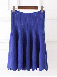 High Waist Wavy Cut Plus Size Skirt