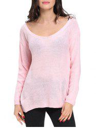 Scoop Neck Crochet Sweater