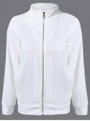 Back Heart Bomber Jacket - WHITE 2XL