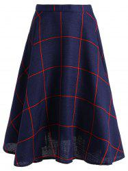 High-Waisted Plaid Skater Skirt