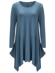 Asymmetrical Long Sleeve Casual Dress