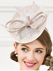 Fascinator bowknot mariage Feather Tea Party Cocktails Hat - Gris Argent