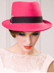 Ribbon Wool Floppy Trilby Felted Fedora Hat