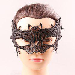 Black Lace One PCS Hollow Out Upper Half Face Carnival Masquerade Masks - BLACK